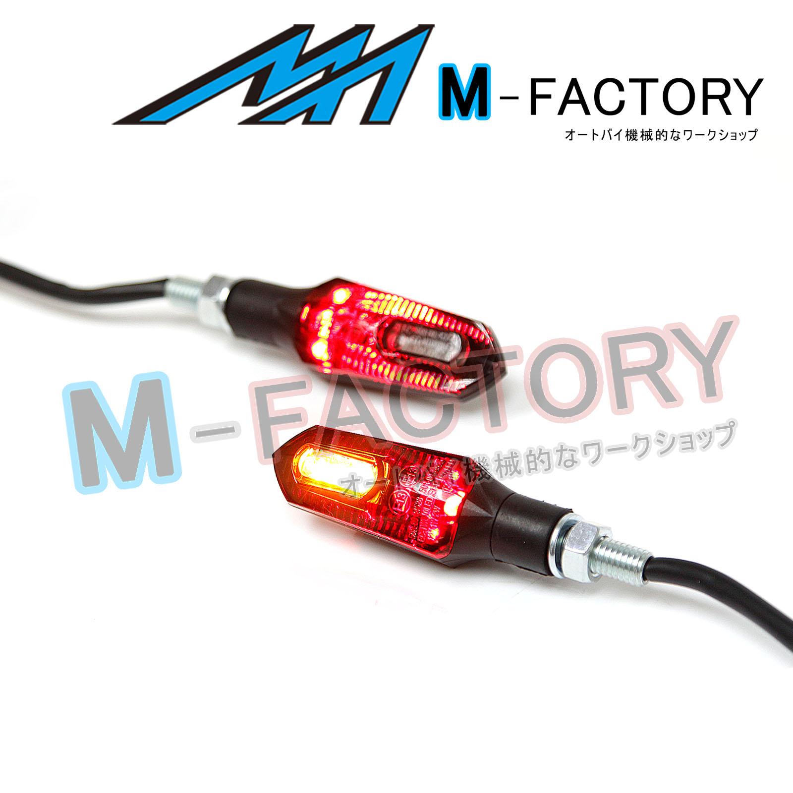 Fit Kawasaki Plastic Smoke Kuuga LED Turn Signals Tail Brake Light