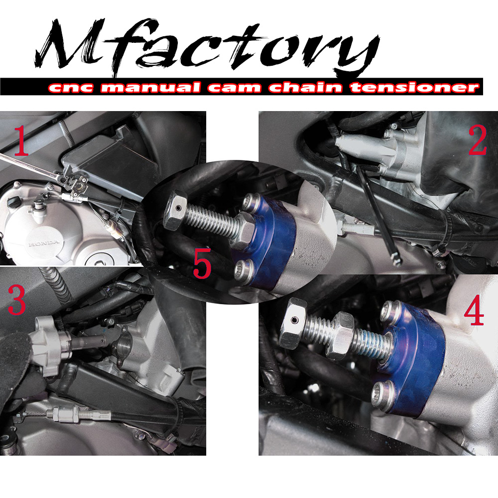 Blue CNC Manual Cam Chain Tensioner For ATV Suzuki LTZ 400 year 03
