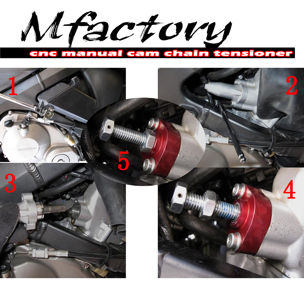 For Suzuki GSXR 750 96 97 98 99 Billet Red Manual Cam Chain Tensioner | eBay