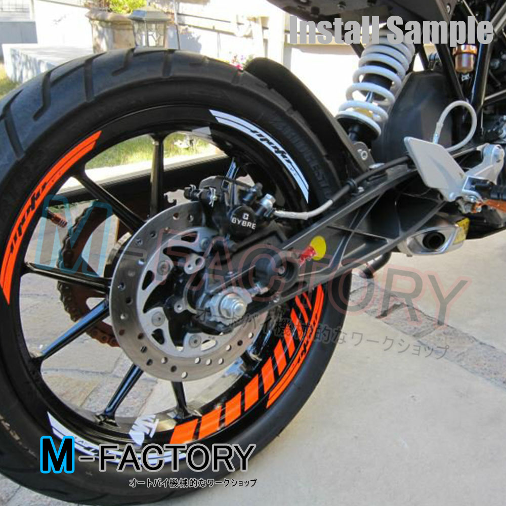 For Ktm Racing Motorcycles Orange Fluorescent Gp2 Rim Stripes 17